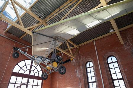powered: TOGLIATTI, RUSSIA - MAY 2, 2013: Powered hang glider at the technical museum in Togliatti, Russia