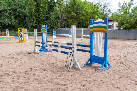 obstacles: Riding competition. Obstacles for horse jumping event
