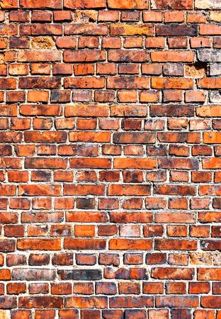 배경으로 오래 된 풍 화 붉은 벽돌 벽 스톡 콘텐츠 - 53625507