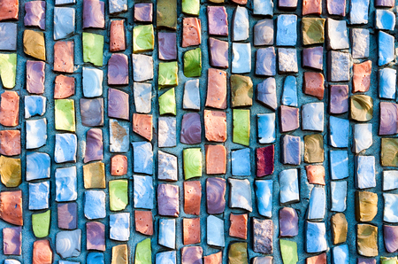 square abstract: Abstract colorful mosaic texture as background