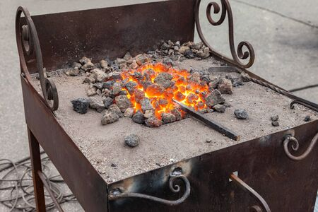 forge: Forge fire in blacksmiths where iron tools are crafted