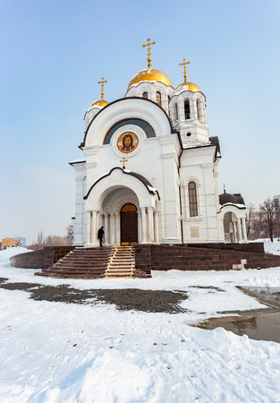 martyr: SAMARA, RUSSIA - MARCH 9, 2015: Church of the Martyr St. George in wintertime