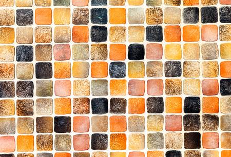 vidrio de cerámica azulejos de colores abstractos composición del mosaico del fondo del modelo Foto de archivo