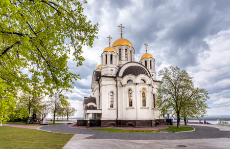 martyr: SAMARA, RUSSIA - MAY 10, 2015: Russian orthodox church. Temple of the Martyr St. George in Samara, Russia