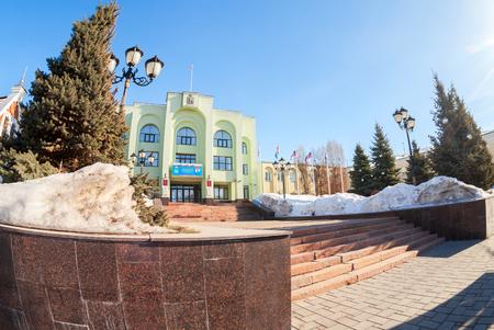 SAMARA, RUSSIA - MARCH 11, 2017: Office building of the Samara city Administration. City government office of Samara, Russia