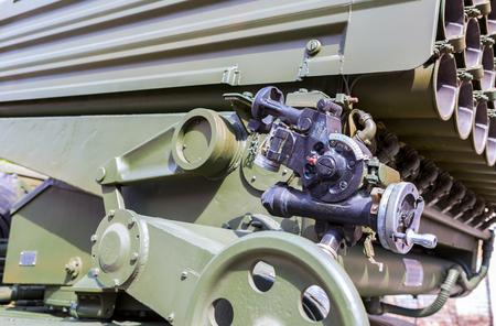 gunsight: Samara, Russia - May 1, 2017: Aiming device BM-21 Grad, mechanical panoramic sight