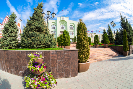 Samara, Russia - May 14, 2017: Office building of the Samara city Administration in sunny day. City government office of Samara, Russia