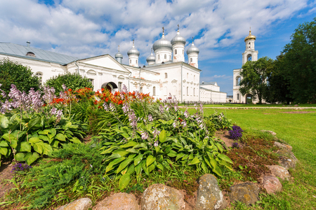 St. Georges (Yuriev) Orthodox Male Monastery in Veliky Novgorod, Russia