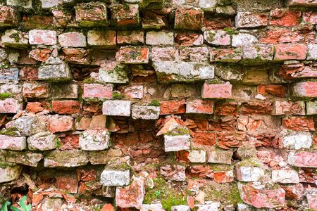 rectangle: Background texture of an old wall with bricks
