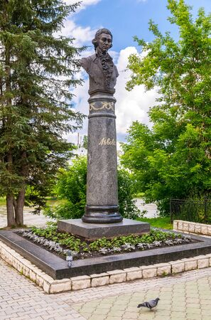 Torzhok, Russia - July 16, 2017: Monument to Russian architector Lvov in Torzhok, Russia Editorial