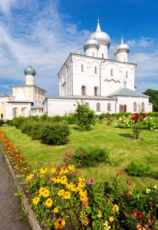 Khutyn Monastery of Saviours Transfiguration and of St. Varlaam near Veliky Novgorod, Russia