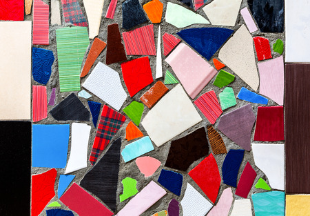 Abstract multicolored ceramic mosaic texture as a creative background Stock Photo