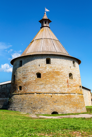 Historical Oreshek fortress is an ancient Russian fortress. Shlisselburg Fortress near the St. Petersburg, Russia