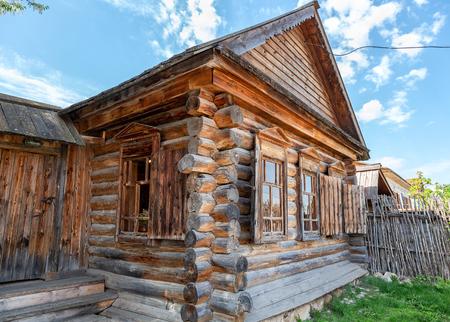 Shiryaevo, Samara, Russia - May 11, 2019: House museum of famous painter Ilya Repin in Shiryaevo village