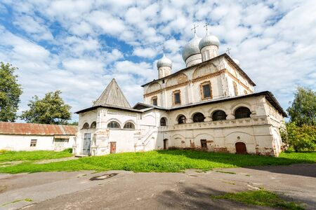 Cathedral of Our Lady of the Sign (1682-1688). Znamensky Cathedral in Veliky Novgorod, Russia