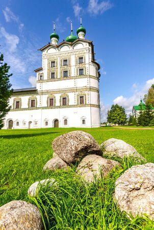 Russian orthodox church. Nicolo-Vyazhishchsky monastery in Veliky Novgorod, Russia