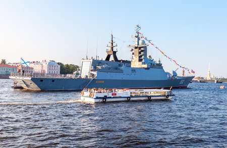 St. Petersburg,  Russia - July 27, 2016: Missile Corvette