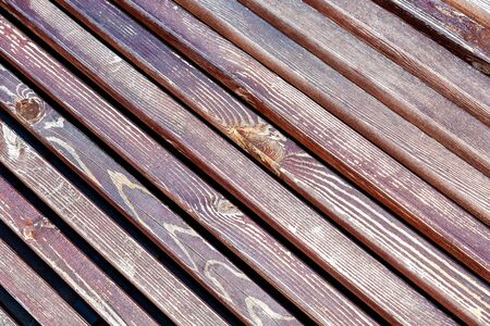 Wooden planks with natural patterns as background, wooden board texture