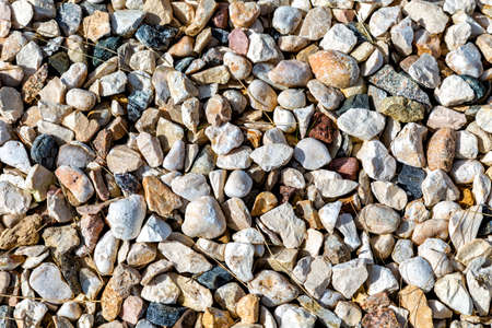 Gravel texture useful as a background. Texture of rubble construction material. Crushed stone