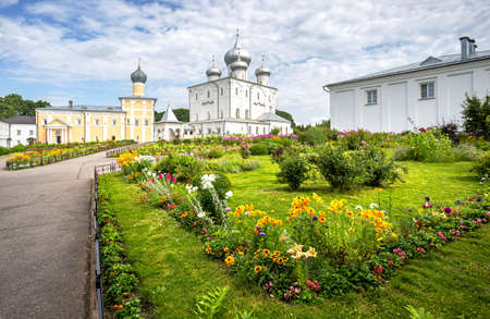 Khutyn Monastery of Savior's Transfiguration and of St. Varlaam near Veliky Novgorod, Russia
