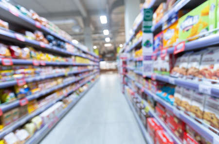 Abstract blur in a chain superstore for background