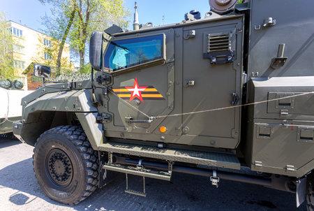 Samara, Russia - May 6, 2021: Protected ambulance tactical link