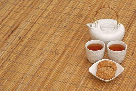 chinese yam: Chinese Tea and Sesame Yam Puffs