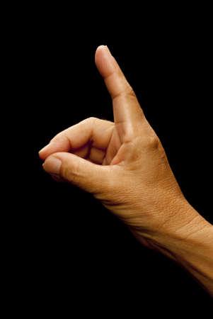 inteligible: Lenguaje de se�as americano (ASL) utilizado para la letra d utilizada por los sordos y mudos de sociedad