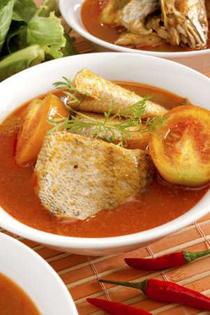 Fish Curry in Individual Bowls Stock Photo - 9251772