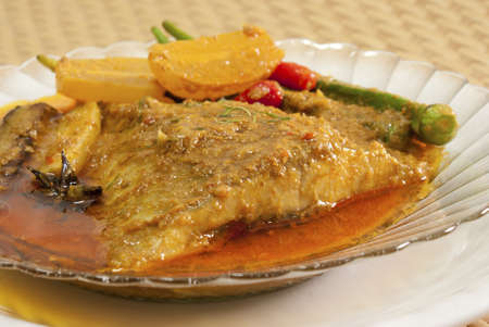 Nonya Asam Fish with Ladys Fingers
