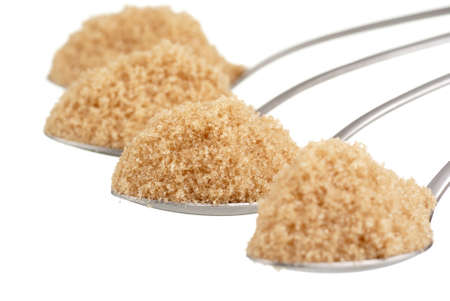 Spoonfuls of Brown Sugar Stock Photo