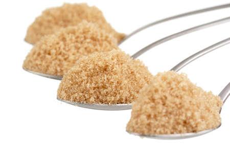 mellitus: Spoonfuls of Brown Sugar Stock Photo