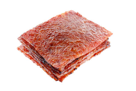 Sliced Pork Jerky also known as Bakkwa in the Hokkien (Chinese) Language Banque d'images