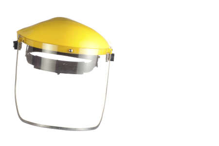 A Used Safety Face Shield with Scratchy Visor