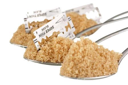 sucrose: Sugar Addiction Stock Photo