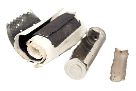 innards: Cutaway Image of an AA Rechargeable Battery