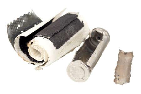 desechos toxicos: Cutaway Imagen de una batería recargable AA