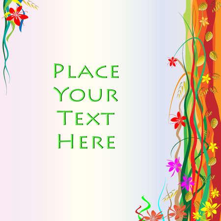 stigma: Flower Frame with Copy Space Illustration