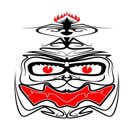 Iban Tribal Death Mask Raster
