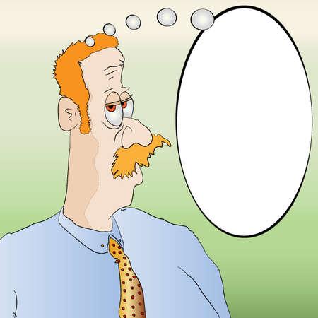 corny: Smug Looking Man with Message Board