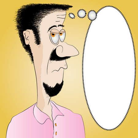 corny: Unshaven Man with Message Board