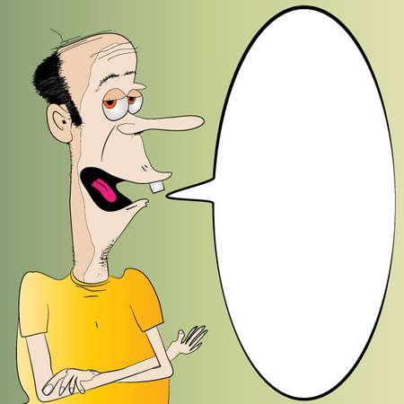 homme chauve: Heureux homme chauve Message Board Illustration