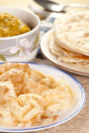 Roti Canai with Lentil Curry photo