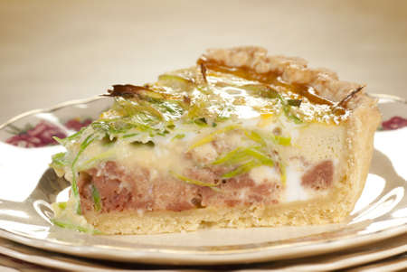Minced Beef & Leek Quiche Stock Photo - 12081428