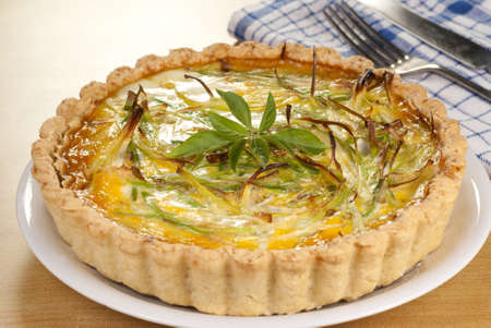 meat pie: Minced Beef and Leek Quiche