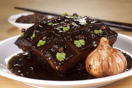 Braised Pork Belly with Dark Soy Sauce photo