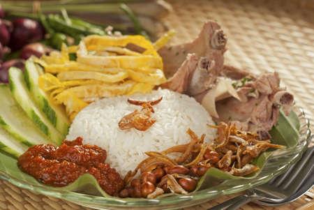 Nasi lemak with Boiled Ribs photo