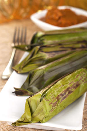 malay food: Lemper - Grilled Savory Rice Rolls