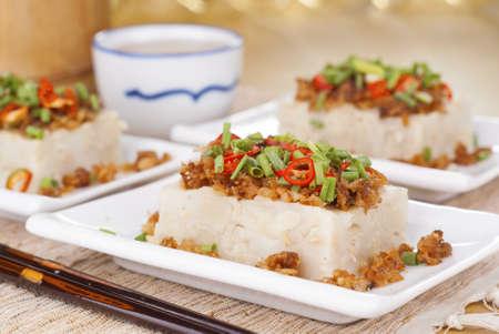 Savory Yam Cake Stock Photo