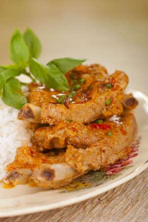 pork rib: Panaeng Curry Pork Rib